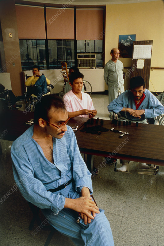 Victims of AIDS on a ward in Hospital