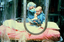 A child undergoing chemotherapy for cancer