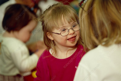 Down's syndrome girl