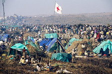 Camp for Rwandan refugees