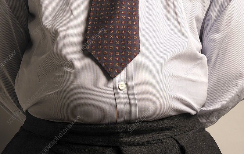 Obese businessman