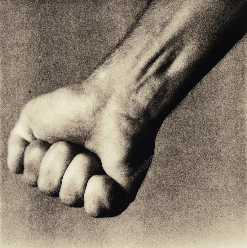 Man's clenched fist