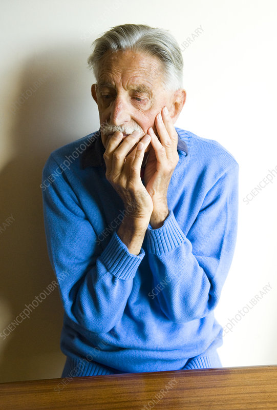 Depressed elderly man