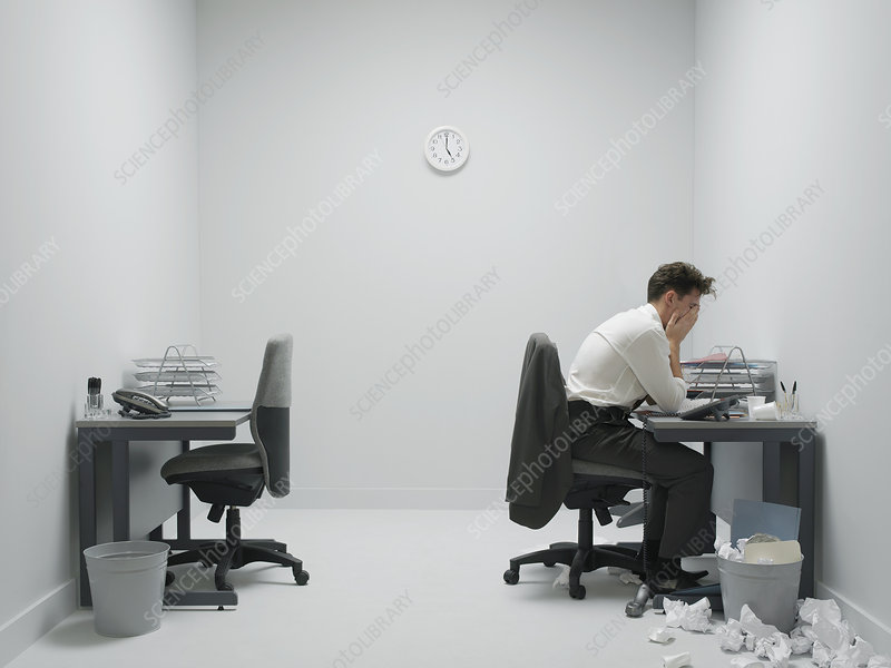 Office stress, conceptual image