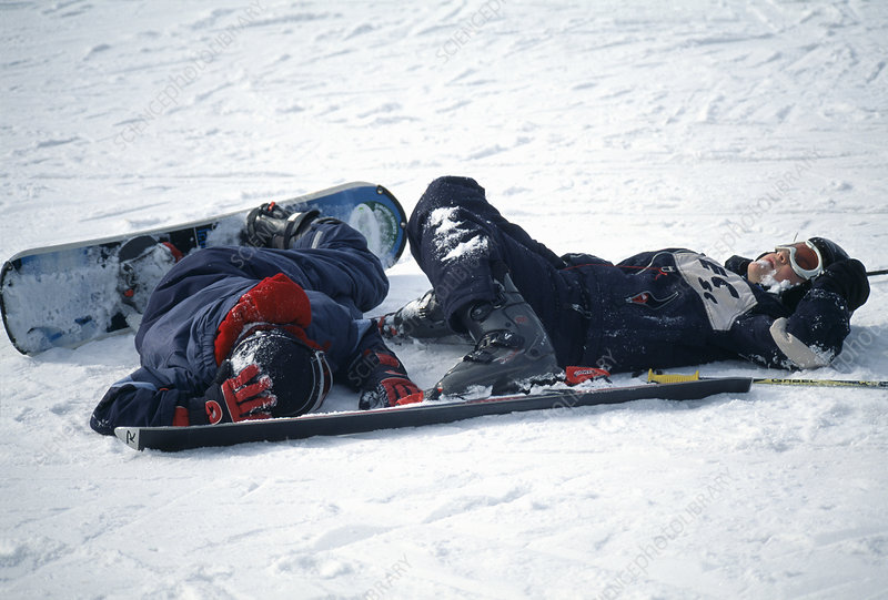 Snowboarding accident