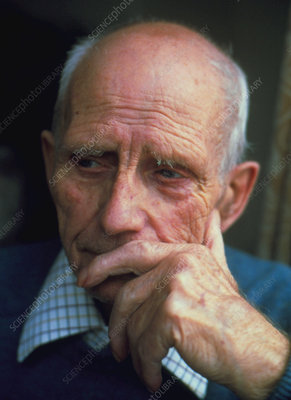 Portrait of the face of an elderly man