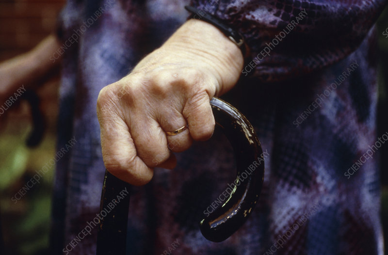 Elderly woman walking