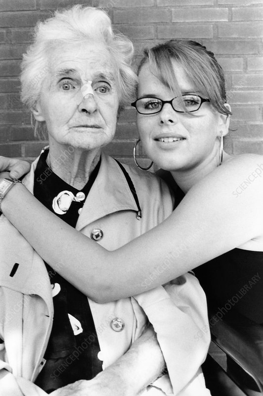 Dementia patient and grand-daughter