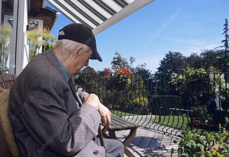 Patient relaxing at a hospice