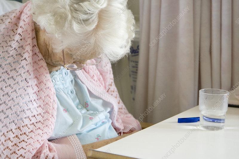 Elderly patient sleeping