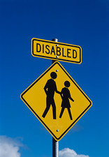 Disability road sign