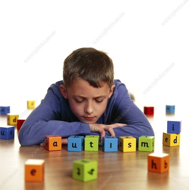 Autistic Toys For Boys : Autistic boy stock image m  science photo library