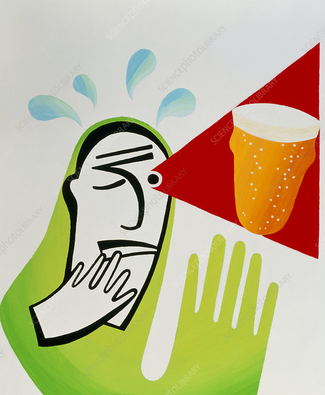 Artwork of an alcoholic imagining a glass of beer