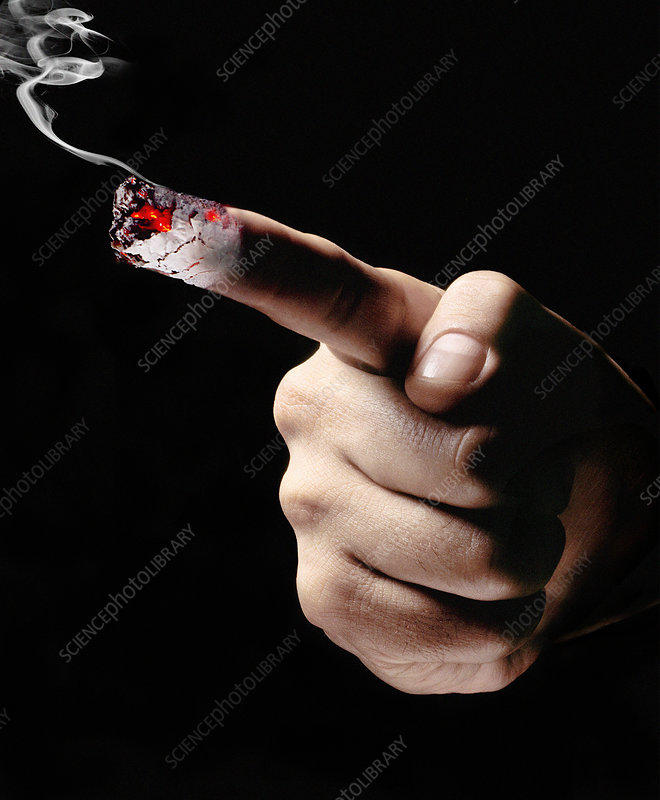 Smoking finger