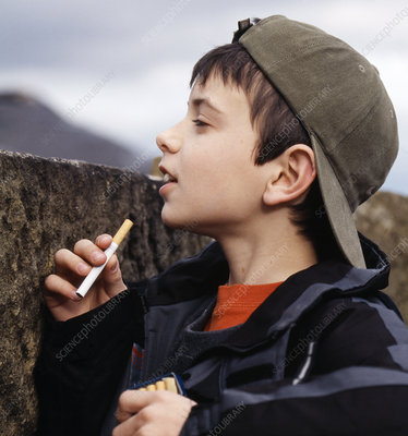 Boy with cigarettes