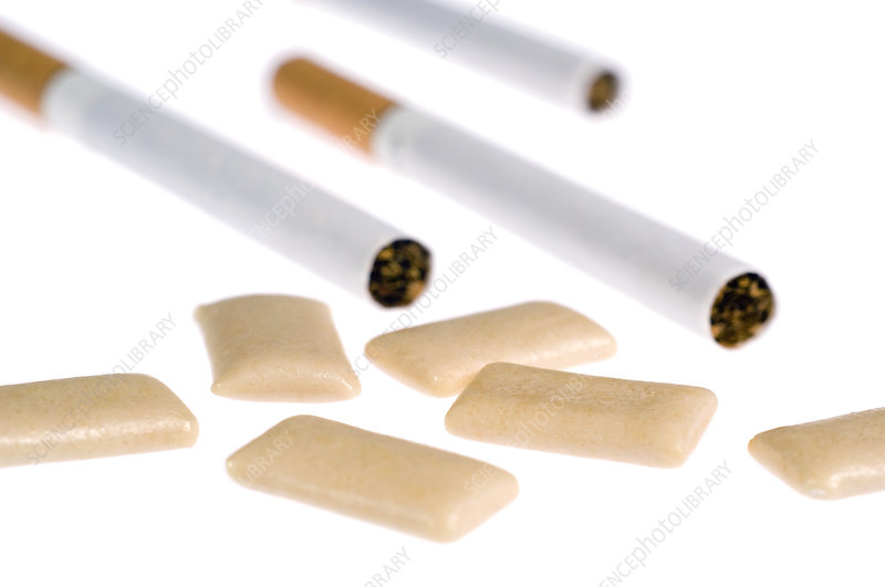 Nicotine gum and cigarettes