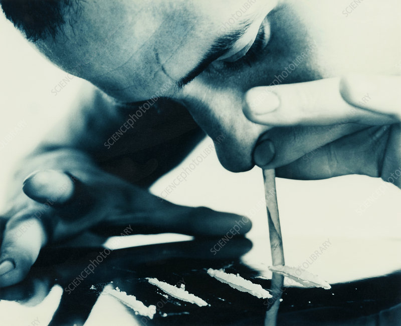 Cocaine snorting