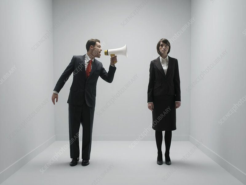 Office bullying, conceptual image