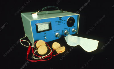 Equipment used for electroconvulsive therapy