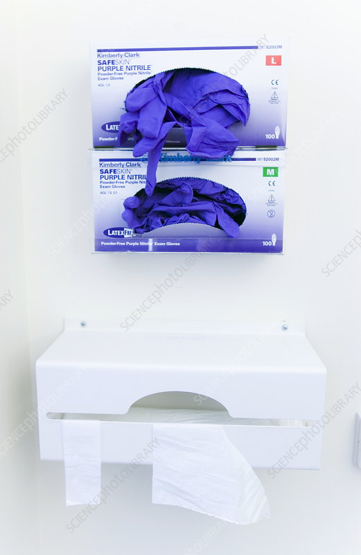 Hospital gloves and aprons
