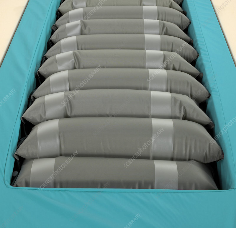 Inflated hospital air mattress