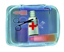 First aid kit, X-ray