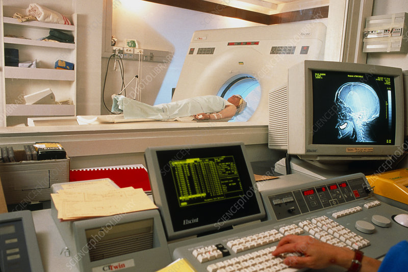 Control room of a CT scanner
