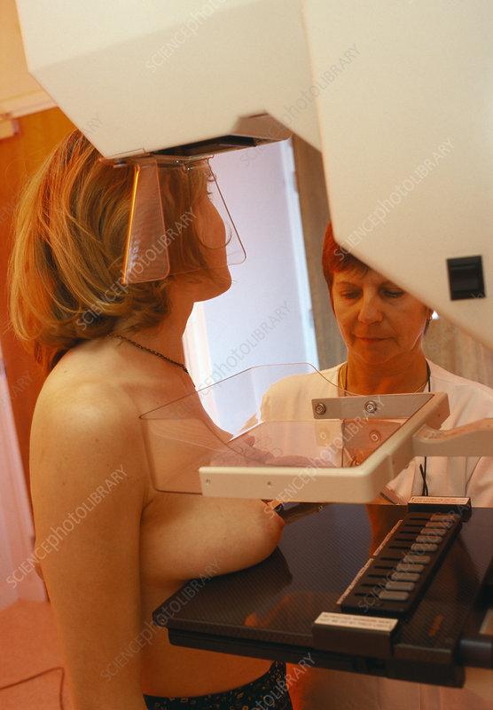 Big boob mamogram
