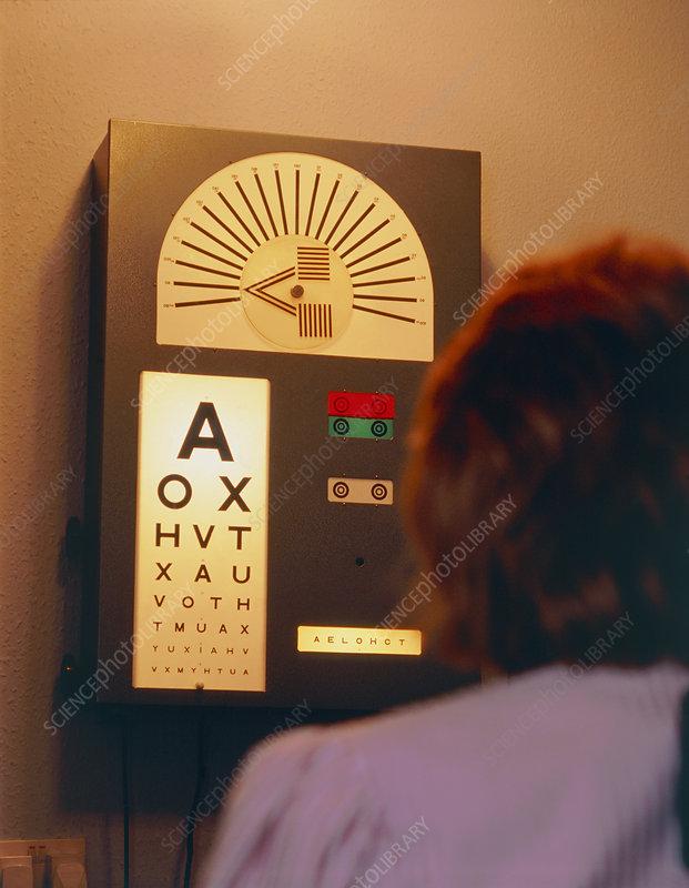 Eye Test Snellen Chart Stock Image M4500080 Science Photo