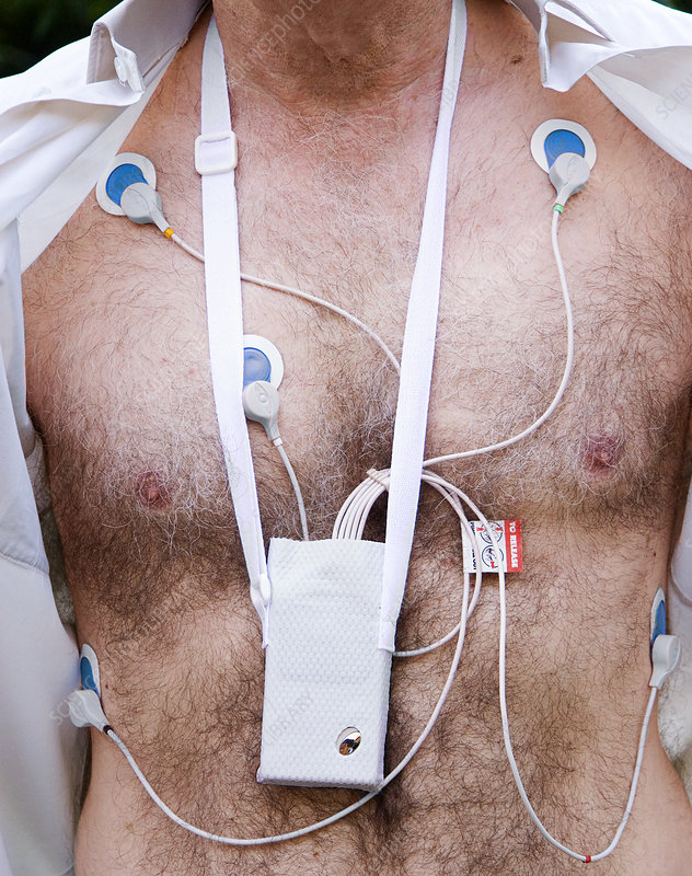 Holter Heart Monitor. Portable heart monitor