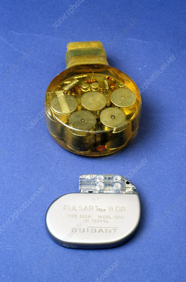 New pacemaker and 30-year old model