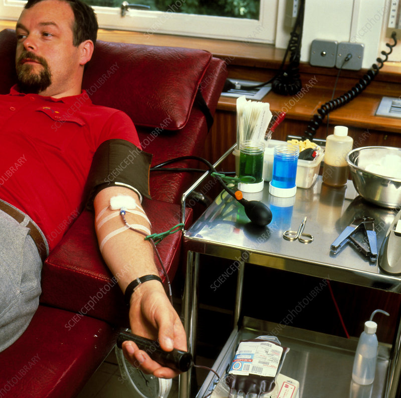 Blood donor (Rh -) at Blood Tranfusion Centre