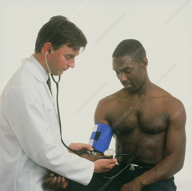 Man having his blood pressure taken