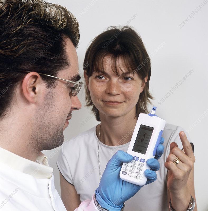 Blood cholesterol test