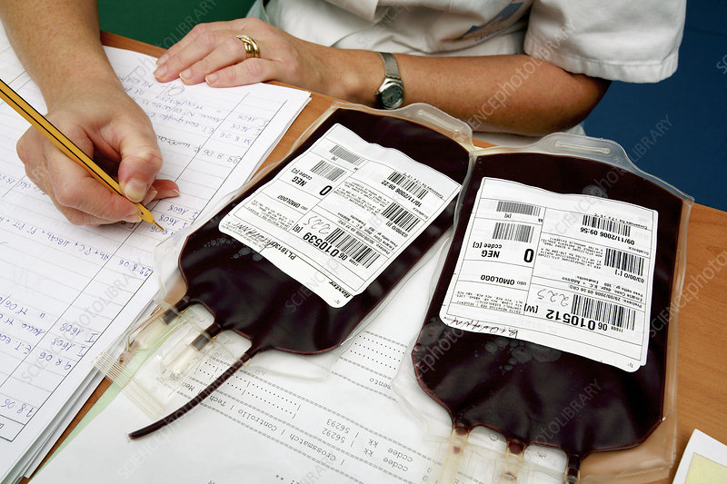 Blood bags for transfusions