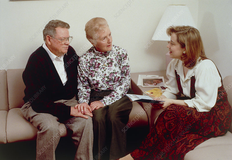 View of an elderly couple undergoing counselling