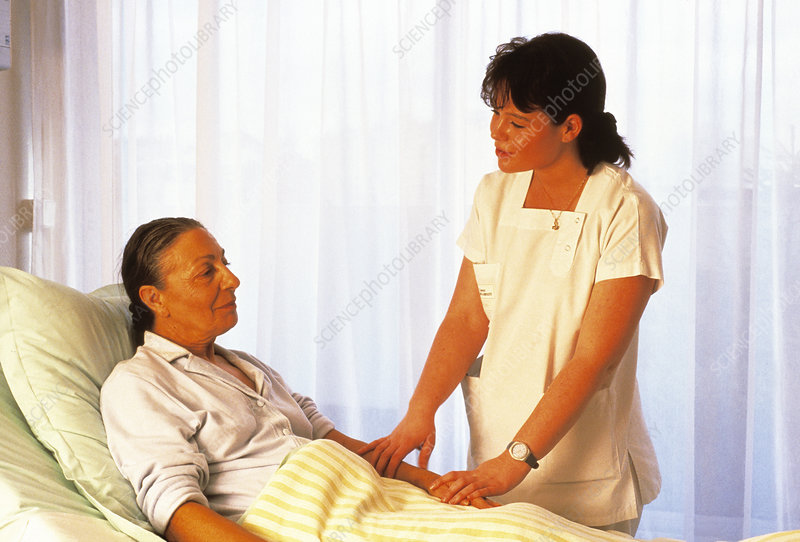 Nurse and elderly patient