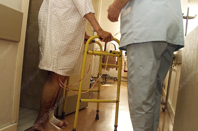 Patient walking