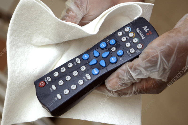 Cleaning hospital remote control