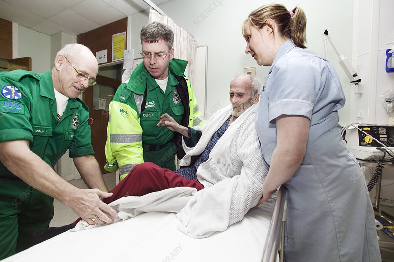 Ambulance patient hand-over