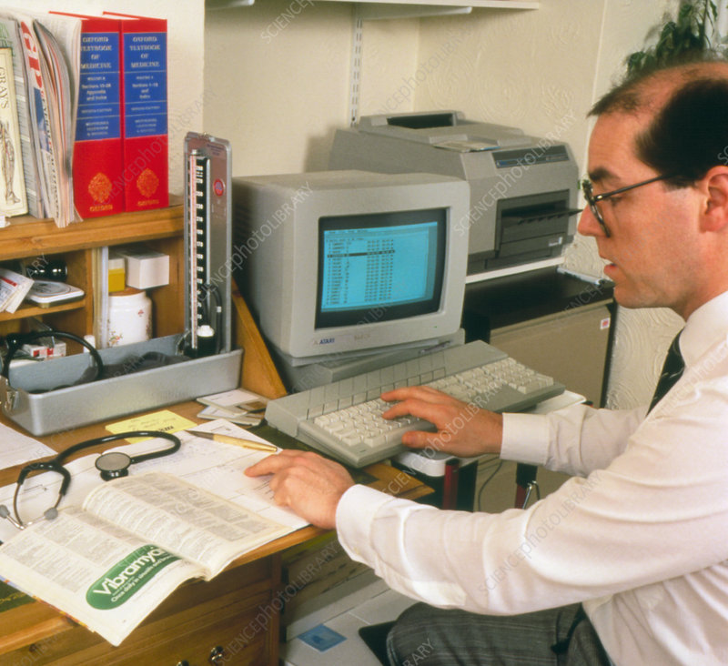GP using computerised patients record system