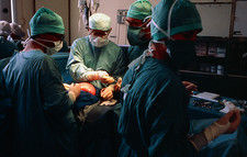 Open uterus fetal surgery; ready to open uterus