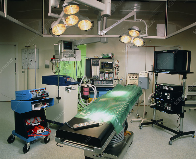 View of a modern operating theatre