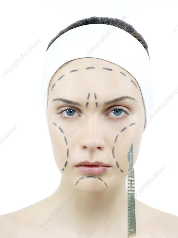 Cosmetic surgery, conceptual image