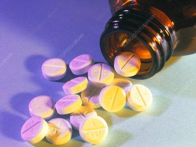 Tablets of the antibiotic drug penicillin