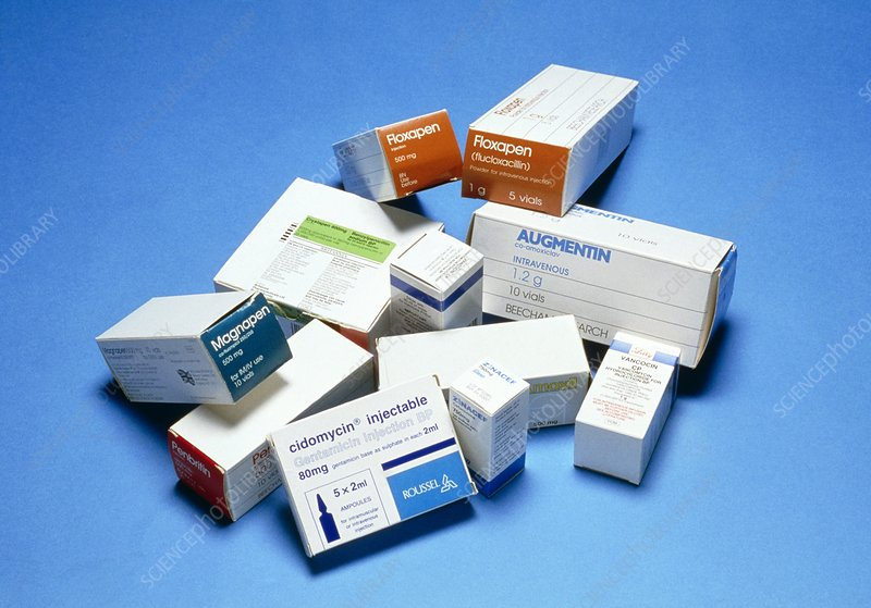 Assortment of injectable drugs