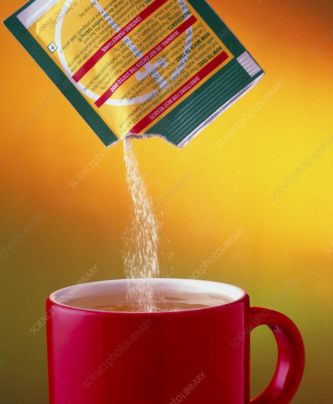 Lemsip pouring into mug