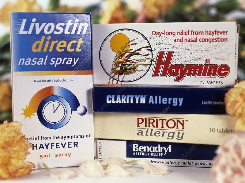 Hay fever drugs