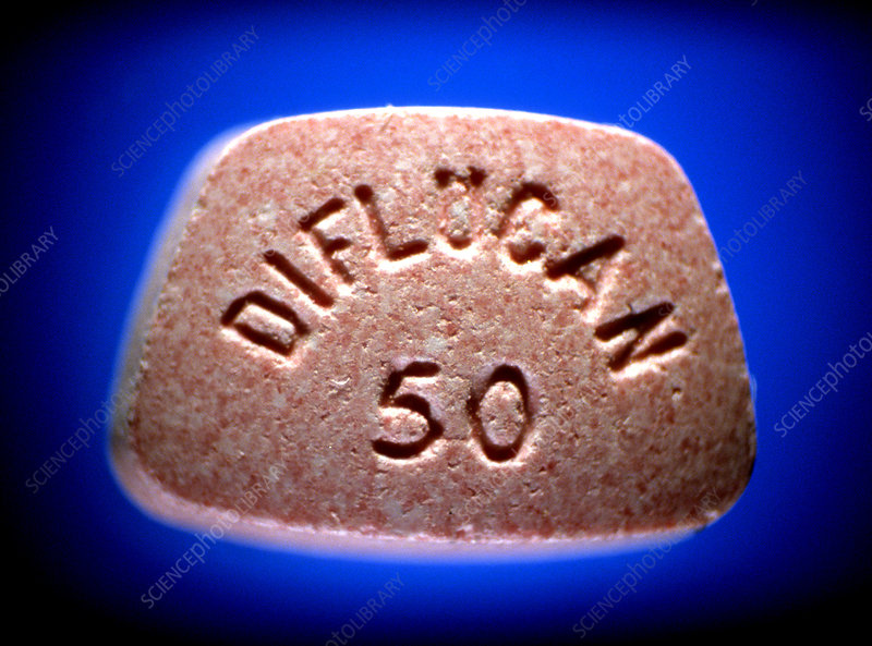 Diflucan (Flucanazole) 100 mg tablet. M625/1348 Rights Managed