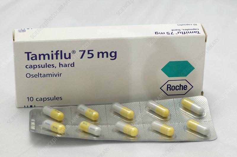 Tamiflu influenza drug capsules